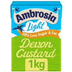 Ambrosia Light Devon Custard
