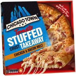 Chicago Town Frozen Stuffed Crust Chicken & Bacon Pizzas