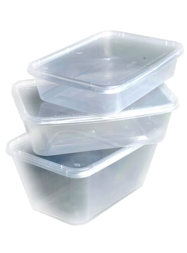 Weller Clear Microwavable Plastic Containers With Lids 500cc